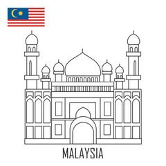 Landmark of Brunei, Malaysia. The grand mosque