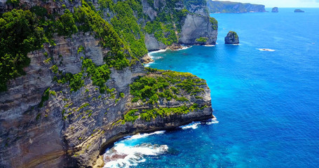 Nusa Penida Banah Coastal Cliffs, Indonesia