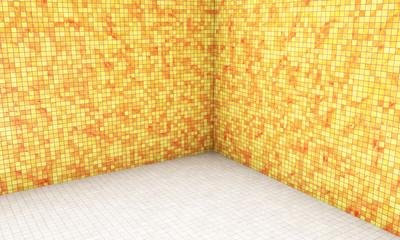 high definition empty blue room 3d render