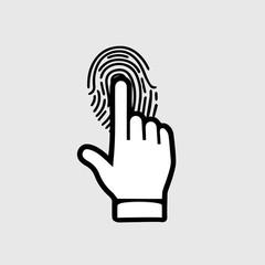 Hand fingerprint symbol