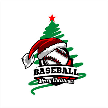 Baseball Christmas Tree Logo v0l. 02