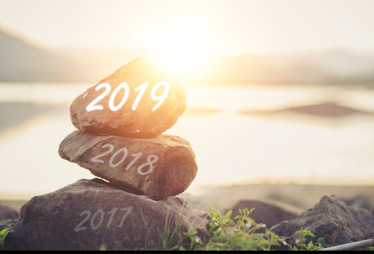 welcome year 2019 / Concept new body, mind, soul, spirit, in the future 2019