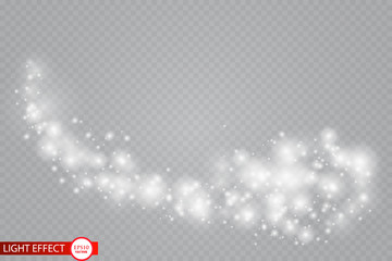 A bright comet with . Falling Star. Glow light effect. Vector illustration