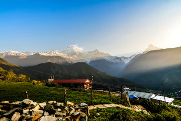 View of Himalayas mountain in Nepal.