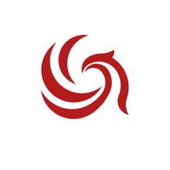 creative abstract eagle head logo vector