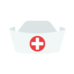 Nurse hat isolated on white background. Nurse icon. Vector stock.