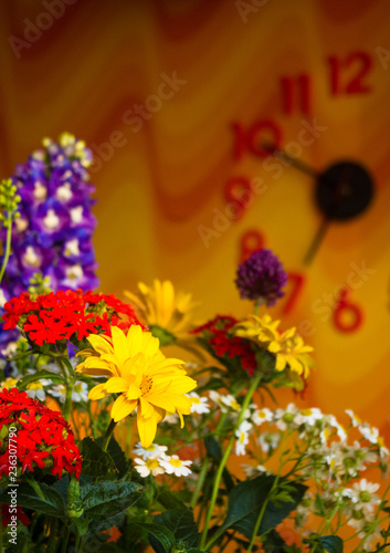 A Bouquet Of Bright Spring Flowers Of Various Types Stock Photo And