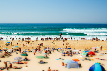 Crowd of people on the overcrowded beach