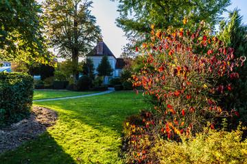Jardin Garnier in Provins, medieval town in France