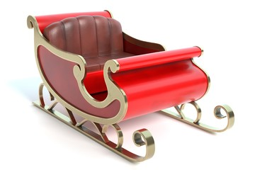 3d illustration of a sleigh