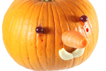 pumpkin decorated for a healthy diet