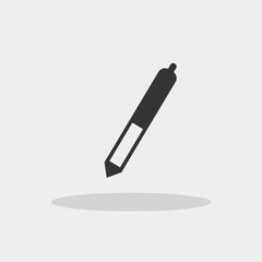 Stylus digital pen vector icon with shadow