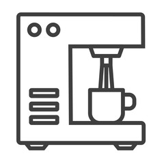 Bar coffee machine icon. Outline bar coffee machine vector icon for web design.