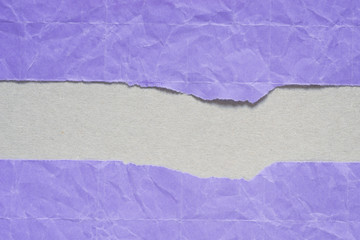 Recess Fitting Fantasy Landscape violet torn paper with copy space on gray background