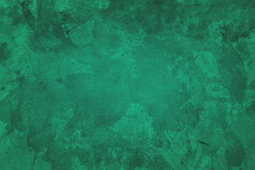 Green Christmas background with watercolor paint spatter texture grunge, elegant marbled paper design