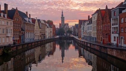 Printed roller blinds Bridges View of Bruges, Belgium