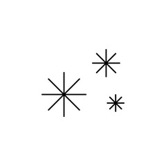 snow icon. Simple glyph vector of weather set for UI and UX, website or mobile application