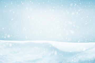 Snowy sky winter background