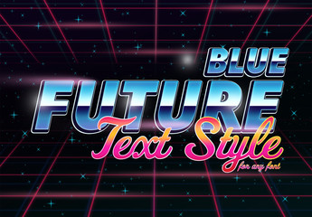 Blue Future Text Style