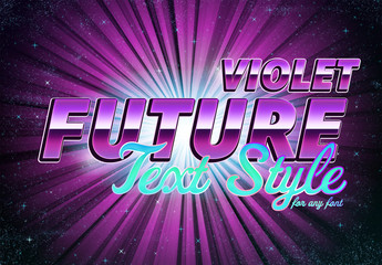 Violet Future Text Style