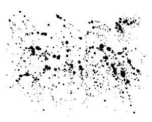 Hand-made grunge drops texture. Abstract splatters and stains.