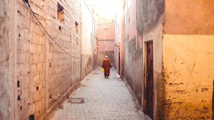 Deserted alleyway in Marrakech