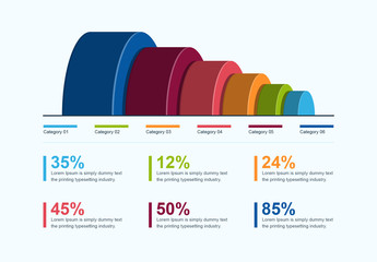 3D Rounded Infographic Layout