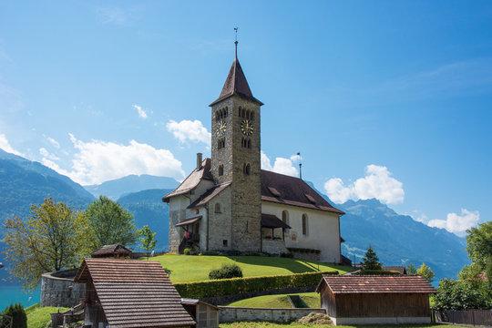 englisch-reformierte Kirche Brienz West, Brienz, Berner Oberland / Schweiz