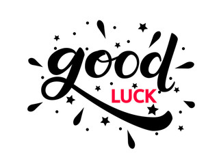 Good luck lettering. Vector illustration