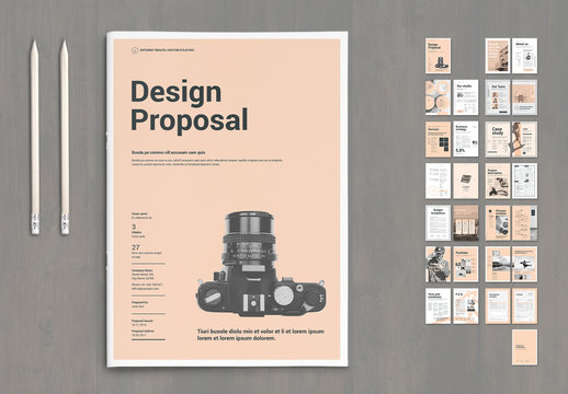 Design Proposal Layout with Pale Pink Elements