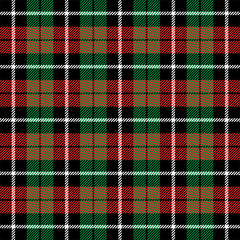 Christmas new year Tartan. Pattern Scottish cage