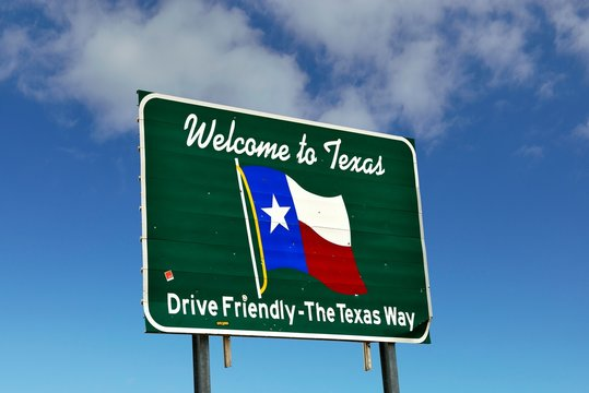 Welcome to Texas, Drive Friendly, Texas Style, Texas, USA, North America