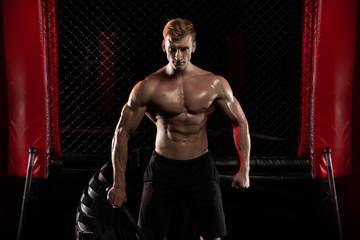 man in sport gym