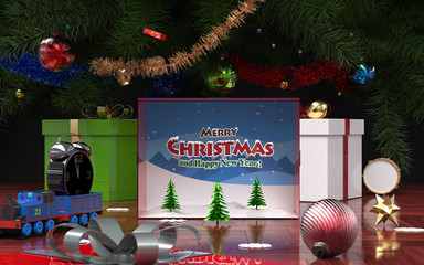 Open gift for Christmas and New Year 2
