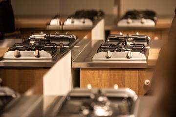 Clean gas kitchens in a restaurant