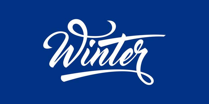 Winter calligraphic text
