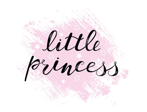 Little princess baby lettering quote, kids design