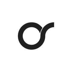 Fototapeta letters os simple circle brand logo  obraz
