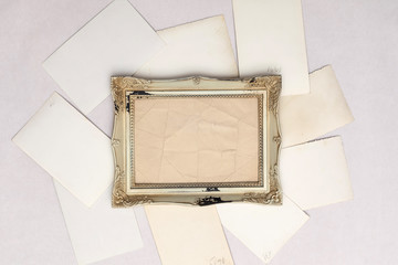 vintage background with photo frames