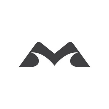 letter m mountain street simple brand logo