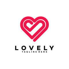 love logo with line