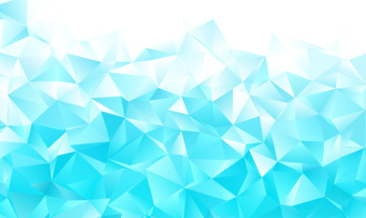 White blue polygon background Wall mural