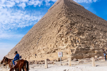 Pyramids of giza. Great pyramids of Egypt. The seventh wonder of