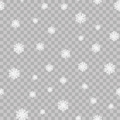 Seamless pattern with Christmas ornaments. Vector