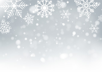Christmas and New Years Blur bokeh of light on background. Vector illustration