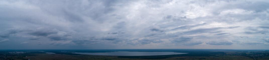 clouds panorama, field