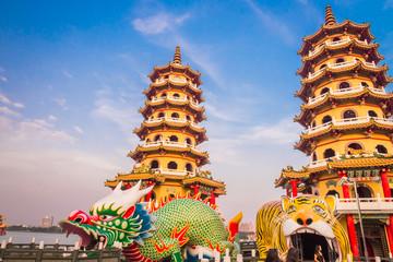 Taiwan,kaohsiung,Dragon and Tiger Pagoda 1 Wall mural