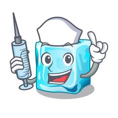Nurse ice cubes wiht mascot on above