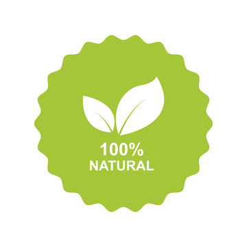 natural label icon vector