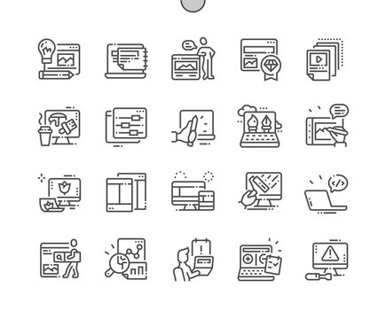 Web Design Well-crafted Pixel Perfect Vector Thin Line Icons 30 2x Grid for Web Graphics and Apps. Simple Minimal Pictogram